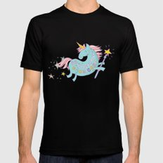 Be A Unicorn Black MEDIUM Mens Fitted Tee
