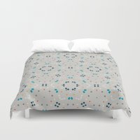 gold dots Duvet Covers featuring dots by Designed by Ruth