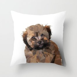 Cocoa, the puppy Throw Pillow
