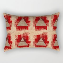 The All-Seeing Eye Pyramid Pattern Rectangular Pillow