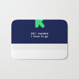 90% funded Bath Mat