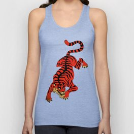 Tattoo Tiger Unisex Tank Top