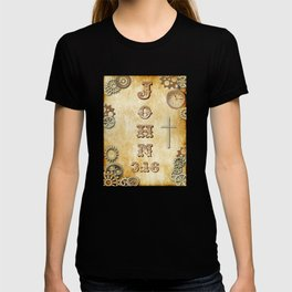 Steampunk Bible Verse John 3:16 T-shirt