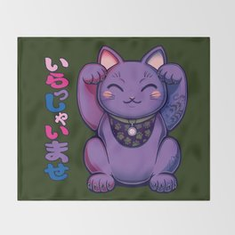 Maneki Neko Phie Throw Blanket
