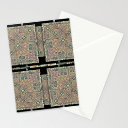 number 240 gray mud green pattern Stationery Cards