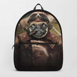Pete the Pilot Pug Backpack