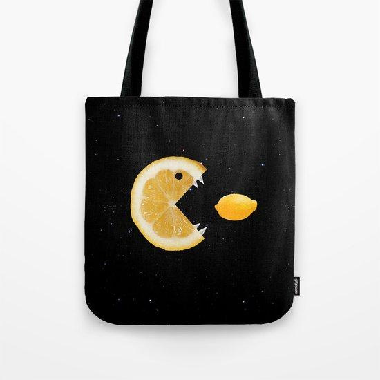 Funny Lemon Eats lemon Tote Bag