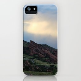 Red Rocks at Dusk iPhone Case