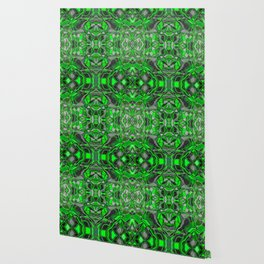 Abstract #8 - I - Neon Green Pop Wallpaper