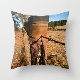 Texas Boots Throw Pillow