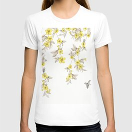 Birds and Cherry blossoms II T-shirt