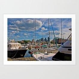 Constitution Marina.....Boston Massachusetts Art Print