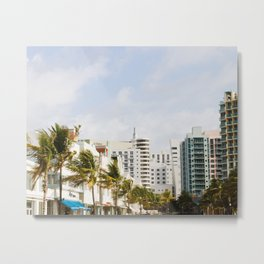 South Beach Vibes Metal Print