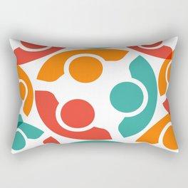 People Group Teamwork Rectangular Pillow
