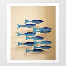 Fish on the Line Art Print