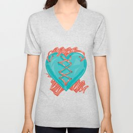 Ribbon Heart Unisex V-Neck