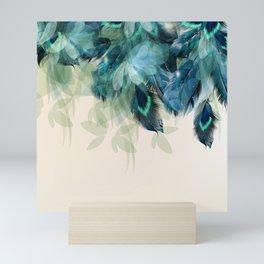 Beautiful Peacock Feathers Mini Art Print
