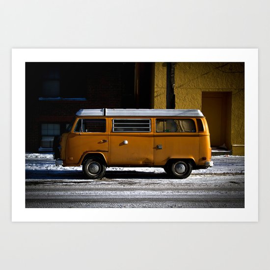 upper Queen Anne (Curbside VW photo series) Art Print