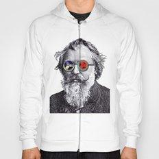 Brahms in Reel to Reel Glasses Hoody