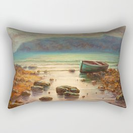 the old boat Rectangular Pillow