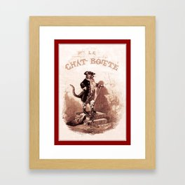 Puss in Boots (Le chat botté) Framed Art Print