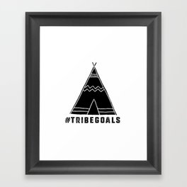 Tribe Goals Framed Art Print