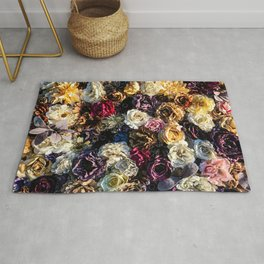 Flower Wall // Full Color Floral Accent Background Jaw Dropping Decoration Rug