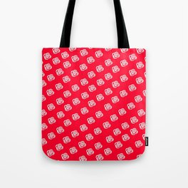 White Rose, Red Background Tote Bag