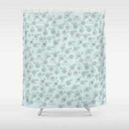 Turbo Life! Shower Curtain