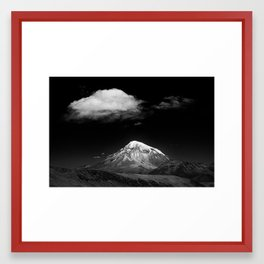 cloud and mountain Framed Art Print