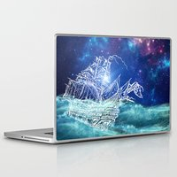 neverland Laptop & iPad Skins featuring To Neverland by Cat Milchard