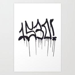 1530 Graffiti Handstyle Art Print