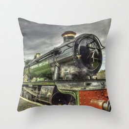 Steam Locomotive 4936 Kinlet Hall Throw Pillow