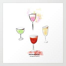 Make Your Mark Party Girl! Art Print