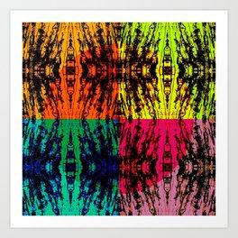 4 different squares Art Print