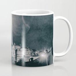 Edinburgh city castle at night from lower street Scotland Coffee Mug