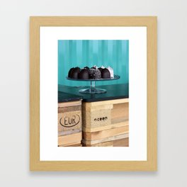 Sweets on a tray Framed Art Print