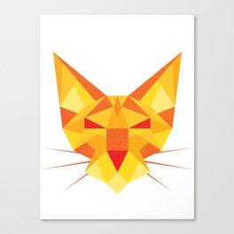 Geometricat Canvas Print
