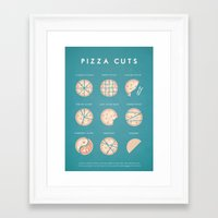 pizza Framed Art Prints featuring Pizza by Travel Poster Co.