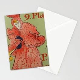 "Henri de Toulouse-Lautrec ""Place Pigalle"" Stationery Cards"