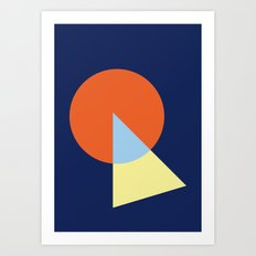 Triangle and circle Art Print