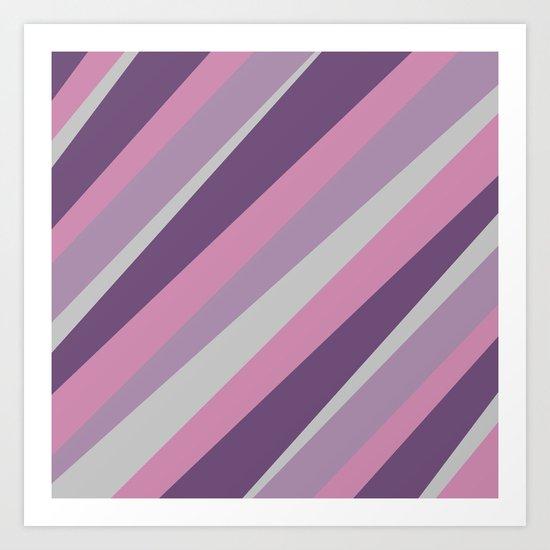 Pattern : Purple Art Print