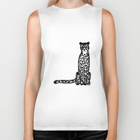 cheetah Biker Tanks featuring Cheetah by Helena's universe