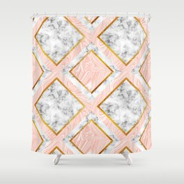 Gold and marble Shower Curtain