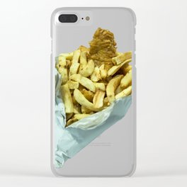 Fish n Chippies Clear iPhone Case
