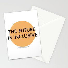 The Future Is Inclusive - Orange Stationery Cards
