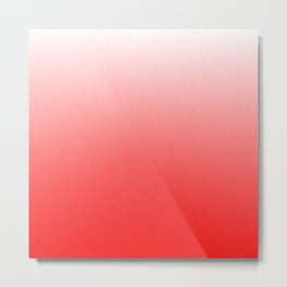 White to Pink Ombre Flames Metal Print