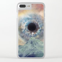 Don't watch me Clear iPhone Case