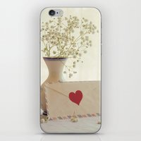 letter iPhone & iPod Skins featuring Love Letter by Colleen Farrell