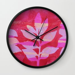 Red Branch Wall Clock